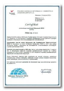 Certyfikat Wdrażam Wytyczne OECD. Odpowiedzialny Biznes 2012