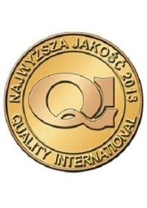 Złote Godło Najwyższa Jakość Quality International 2013
