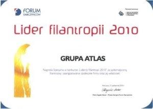 Nagroda Specjalna w konkursie Liderzy Filantropii 2010