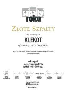 Złote Szpalty 2011